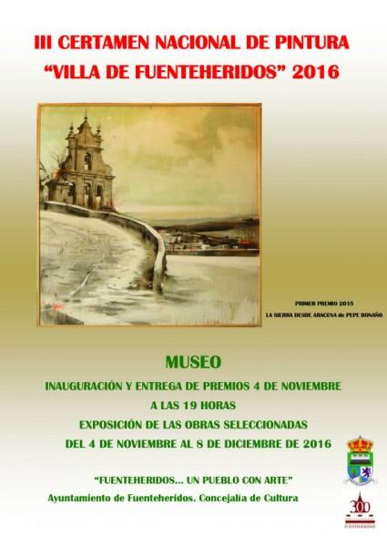 III Certamen Nacional de Pintura Villa de Fuenteheridos 2016