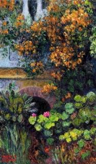 Mario Sanzano, Rincón de mi jardín, óleo sobre lienzo, 50x30cm. 2015