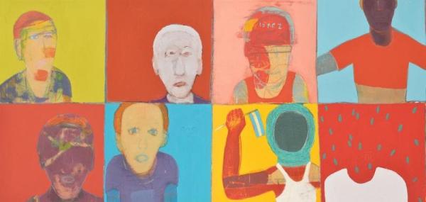 Argüello Pitt, Mateo. Sin título, detalle. (2011) Técnica mixta s/MDF, 83x260 cm