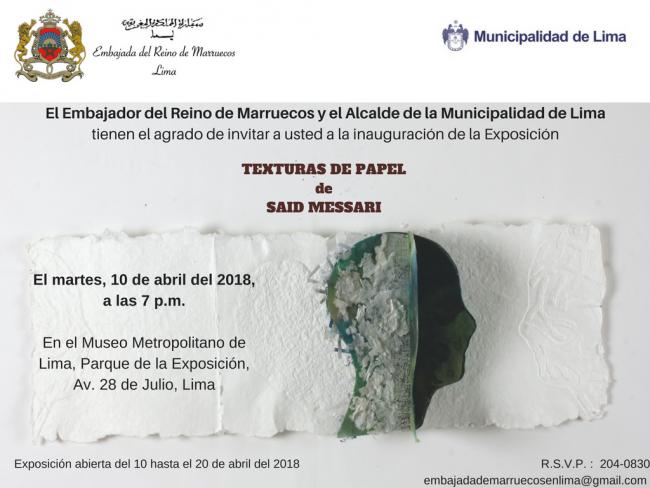 TEXTURAS DE PAPEL. Imagen cortesía Embajada de Marruecos en Lima