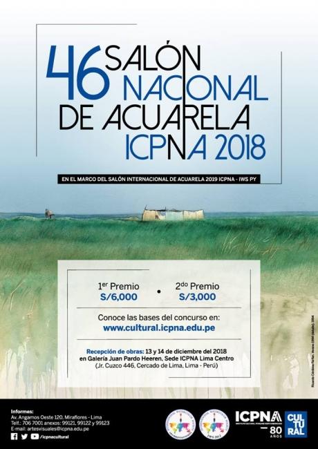 46 Salón Nacional de Acuarela ICPNA 2018