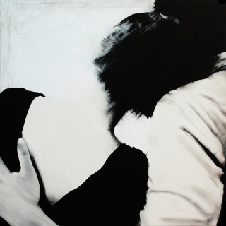 Brigitta Both, Harmony, 2019. 100 x 100 cm. Acrílico sobre tela — Cortesía de N2 Galería