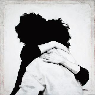Brigitta Both, I just want to hold you, 2019 100 x 100 cm. Acrílico sobre tela — Cortesía de N2 Galería