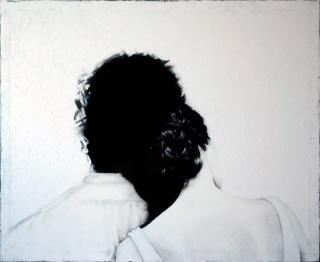 Brigitta Both, Syncronized, 2019. 81x100 cm. Acrílico sobre tela — Cortesía de N2 Galería