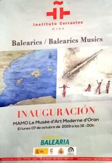 Cartel Exposición 'Baleàrics Músics' Orán, Argelia