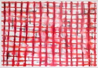 Pilar Diez. Geometría blanda. Acuarela sobre papel. 101,5 x 152,5 cm. — Cortesía de Moret Art
