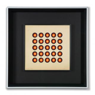 Ennio L. Chiggio, Oculari 5x5 rosso giallo, 1962. Archivio Ennio L. Chiggio