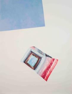 Vicky Uslé, Sin título, 2016. Óleo sobre papel, 203 x 152,5 cm