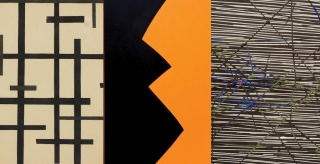 Burgoyne Diller, untitled, c.1940 (detail); Leon Polk Smith, Correspondence Black Yellow, 1963 (detail); Jesús Soto, Vibration, 1960 (detail), Juan Carlos Maldonado Collection. Imagen cortesía Art Circuits