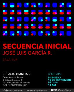 José Luis García R.: Secuencia inicial