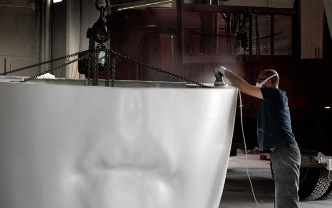 Proceso de construcción de Julia de Jaume Plensa © Fundación María Cristina Masaveu, 2018. Fotografía: Fotogasull — Cortesía de la Fundación María Cristina Masaveu Peterson
