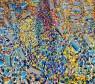Larry OTOO | Market Square  | 2018-2019 | 121cm H x 139cm W | Acrylic on canvas — Cortesía de OOA Gallery