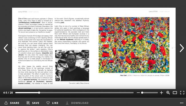 Larry OTOO | Catalogue Vibrant Colours 2019  — Cortesía de OOA Gallery