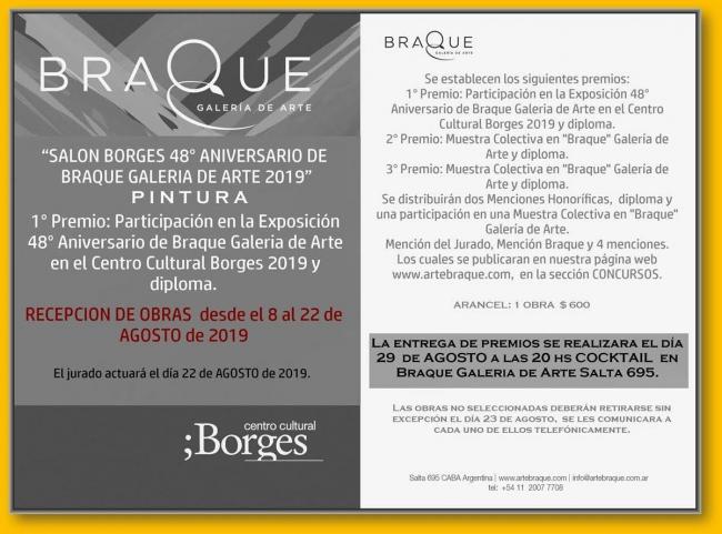 Salón Borges 48° aniversario de Braque Galería de Arte pintura2019