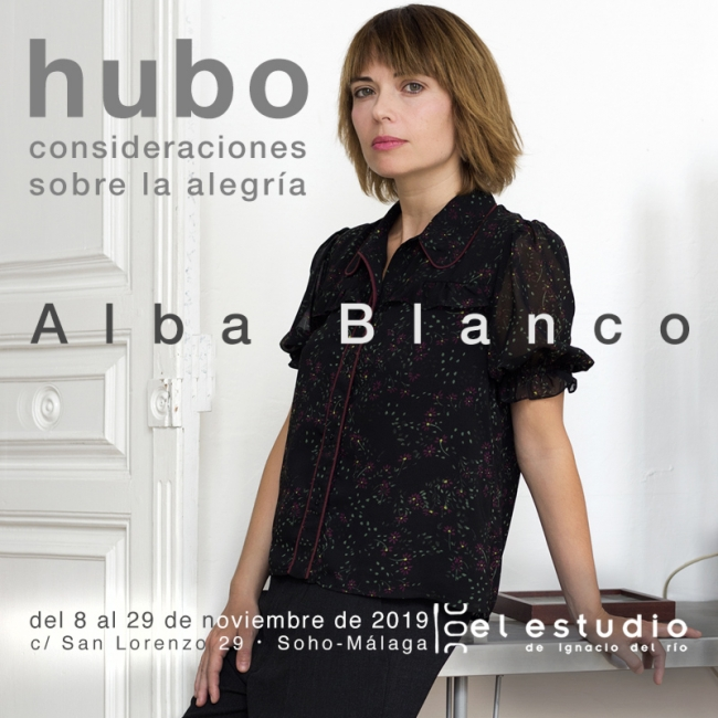 Alba Blanco en su estudio