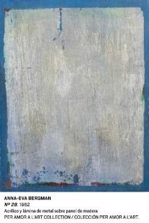 Anna-Eva Bergman, Nº 28, 1962. Acrílico y lámina de metal sobre panel de madera. Colección Per Amor a l'Art — Cortesía del Museo Nacional Centro de Arte Reina Sofía