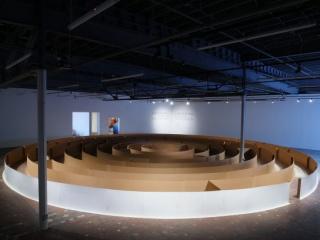 Carlos Bunga, Doubled Architecture, installation at MoCAD, Detroit, 2018, photo: MOCAD