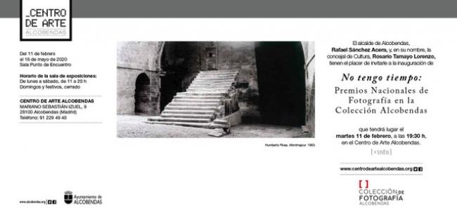 No tengo tiempo. Premios Nacionales en la Colección de Fotografía Alcobendas - Invitación