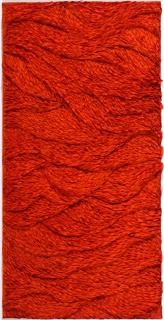 Javier León Perez, Crumpled Universe #4, Papel de seda s/ madeira, 100x50 cm, 2020 — Cortesía de TREMA ARTE CONTEMPORÂNEA
