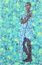 Emeka Udemba - Angel - 200cm H x 130cm W - Mixed media on canvas