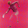 Evans Mbugua - Don't slow me down if I'm going too fast - 2020 - 100x 100cm - Oil on plexiglass & photopaper