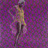 Evans Mbugua - Guturamira-Ngania - 2020 - 100cm x 100cm - Oil on plexiglass and photopaper