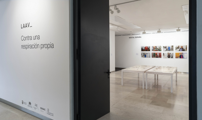 """Vista de la exposición 'Contra una respiración propia"""" — Cortesía del MUSAC"""