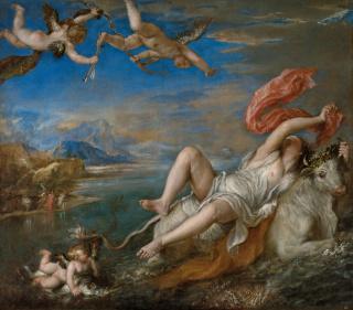 El rapto de Europa. Tiziano. Óleo sobre lienzo, 178 x 205 cm 1559-1562 Boston, Isabella Stewart Gardner Museum — Cortesía del Museo del Prado