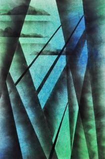 PABLO LA PADULA. Sin ti?tulo, humo y pigmento sobre papel, 50 x 70 cm,, 2019 — Cortesía de Meridiano (Cámara Argentina de Galerías de Arte)