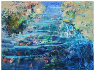 Pere de Ribot, Sin título, 114x195 cm., 2017. Óleo sobre lienzo