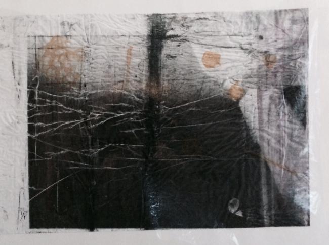 DESDOBRAS. Ayao Okamoto, ''Azulejos'', 2015, 30 cm x 40 cm, diggigravura. Imagen cortesía Gabinete MATIAS J RIBEIRO