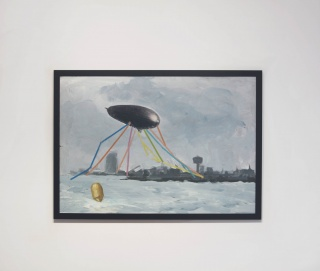 Thilleli Rahmoun. Sense títol BCN #2. Tècnica mixta sobre metacrilat. 70 x 100 cm. 2017. [Col·lecció Piramidón] – Cortesía de Piramidón, Centre d'Art Contemporani