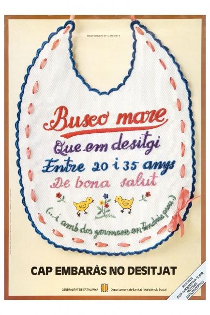 Cartel Campaña de planificación familiar de la Generalitat de Catalunya, 1980 - Jaume Bach, Pilar Villuendas. Donación Pilar Villuendas, 1996 — Cortesía del Museu del Disseny de Barcelona