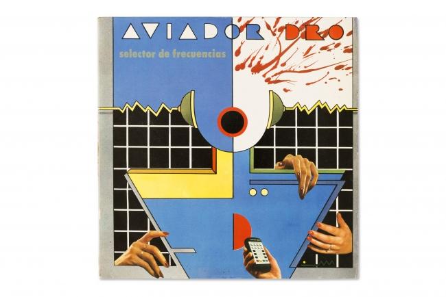 Portada del maxisingle Selector de frecuencias de Aviador Dro, 1982. Montxo Algora, Compra, 2017 — Cortesía del Museu del Disseny de Barcelona