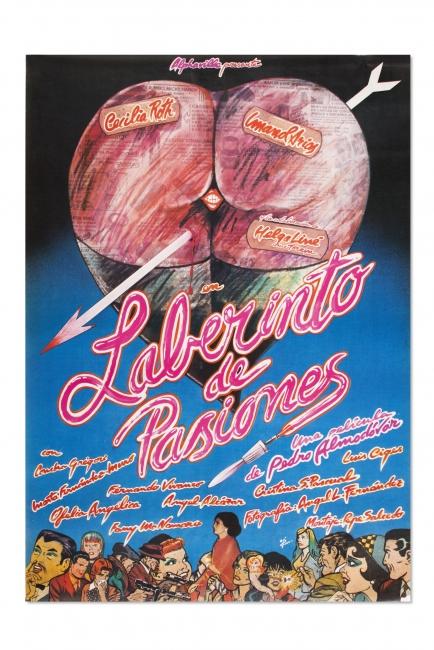 Cartel de la película Laberinto de Pasiones de Pedro Almodóvar, 1982 - Iván Zulueta, Compra, 2017 — Cortesía del Museu del Disseny de Barcelona