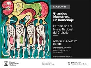 Grandes Maestros, un homenaje. Patrimonio del Museo Nacional del Grabado. Imagen cortesía CNB Prensa