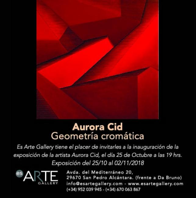 """Resultado de imagen de Aurora del Cid """"Geometría Cromática"""""""
