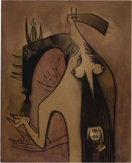 "Wifredo Lam, ""Femme-Cheval,"" 1948. Cortesía de Galerie Gmurzynska, New York."