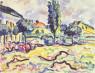 Karl Schmidt-Rottluff. El pueblo de Dangast, 1909. Thyssen-Bornemisza Collections — Cortesía del Museo Nacional Thyssen-Bornemisza