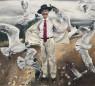 Santiago Ydáñez. Sin título, 2020. Acrílico sobre lienzo. 260 x 285 cm. — Cortesía de la Galería Javier López & Fer Francés