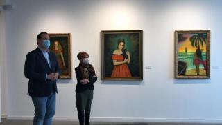 """Presentación de la exposición """"María Walias. Retratos y figuras"""" — Cortesía de la Sala de exposiciones La Salina"""