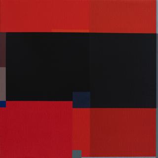 Códice Dos (2020, Jesús Matheus)  |  Acrílico y óleo sobre lienzo, 45.5 x 45.5 cm. — Cortesía de la galería Odalys
