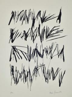 León Ferrari. Sin título, prueba de artista, 1984, serígrafía, 349x249 cm. — Cortesía del Museo Nacional de Bellas Artes