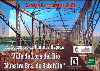 Cartel XI Concurso Pintura Rápida Villa de Lora del Río