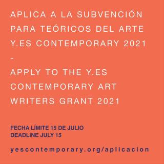 2021 YES Contemporary + Terremoto Art Writers Grant