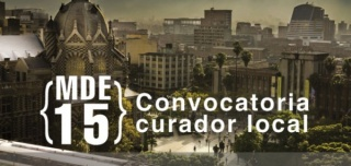 Cartel de la Convocatoria curador local MDE15