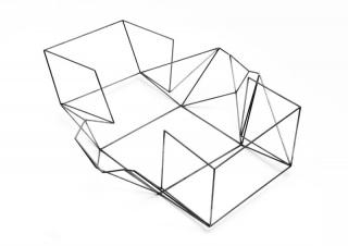 JORGE MACCHI 'Present 01' 2018, steel, 50 x 45 x 17 cm. Photo Ignacio Iasparra