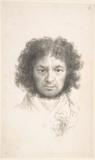 Autorretrato Francisco de Goya Pincel y aguada de tinta de hollín sobre papel verjurado, 233 x 144 mm 1796 Nueva York, The Metropolitan Museum of Art, Harris Brisbane Dick Fund, 1935 — Cortesía del Museo del Prado