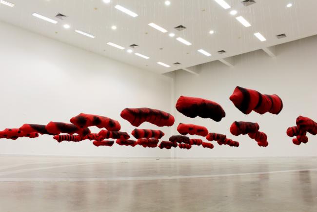 Genivaldo Amorim, instalación en el Museo de Arte Contemporáneo de MS_Brasil, 2017