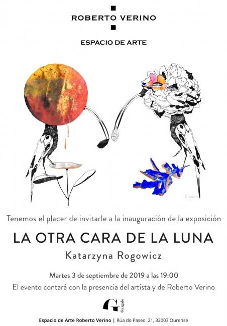 Invitación exposición LA OTRA CARA DE LA LUNA de Katarzyna Rogowicz en EA Roberto Verino